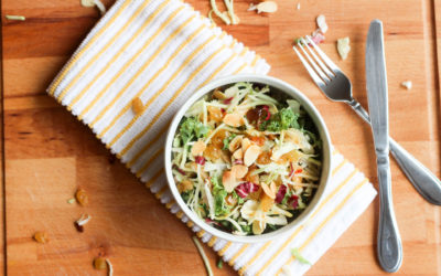 Sweet and Tangy Kale Almond Salad