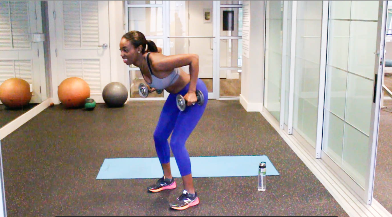 Olympic Inspired 3 move arm workout - Reverse Arm 1
