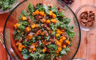 Roasted Butternut Squash Quinoa & Kale Salad