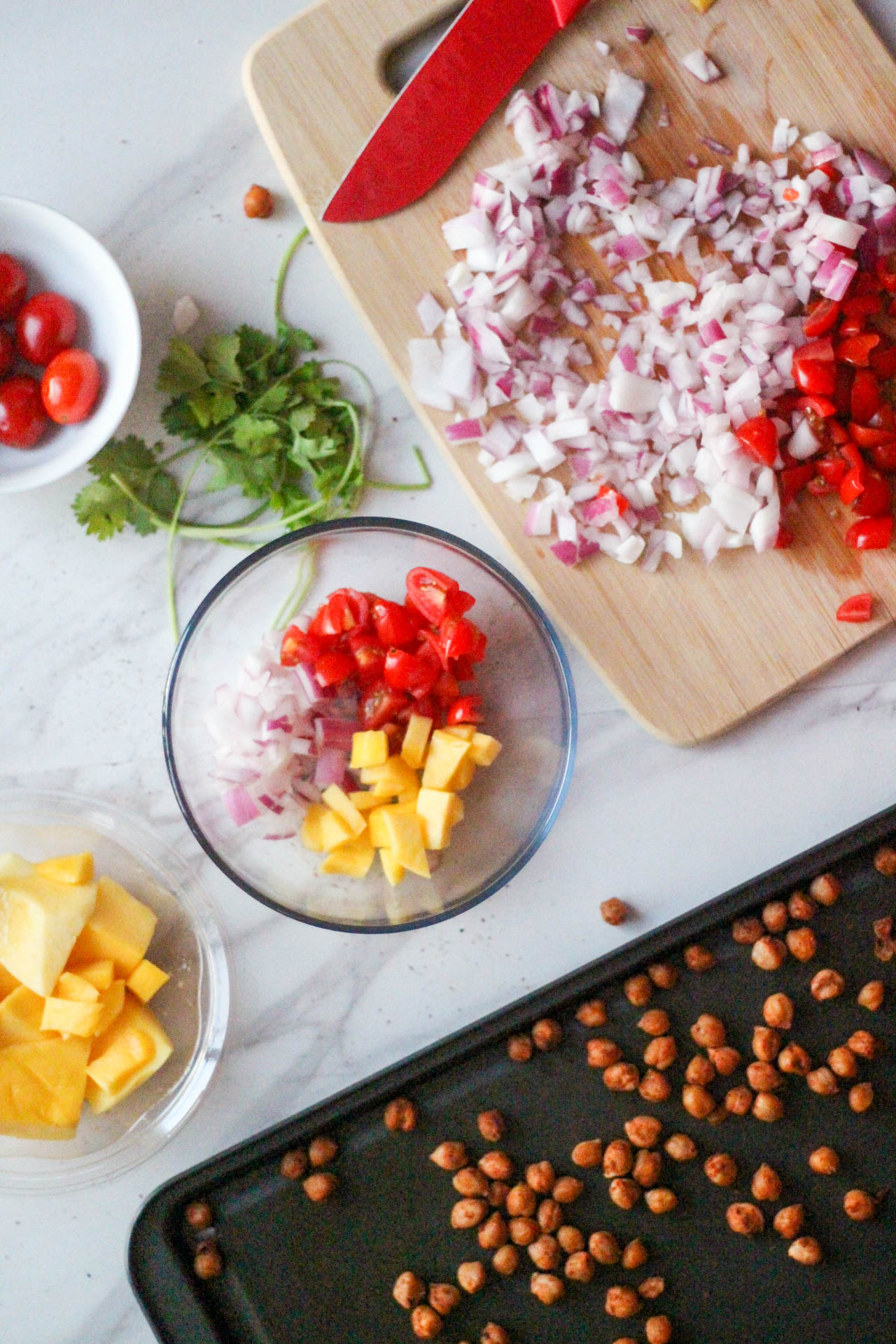 Summer Mango Chickpea Taco Unmixed